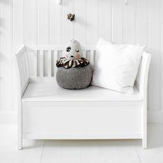 Kinder-Sitzbank mit Truhe 'Seaside' weiß B84cm