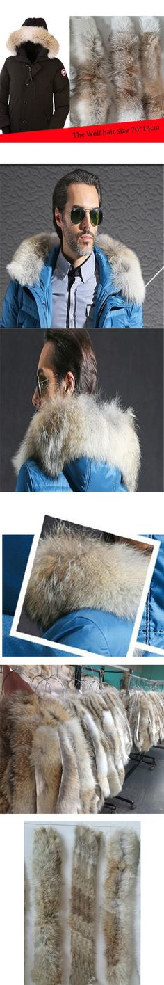 2017Real Fur Collar for Men and Women Winter Warm Coat Hooded Collar Genuine Scarves Fur Collar Real Fur Scarf 70 * 14 cm C#36