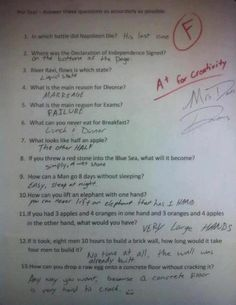 """THIS is what's wrong with our education system! """"Being rewarded for the right answers vs. thinking outside the box"""""""