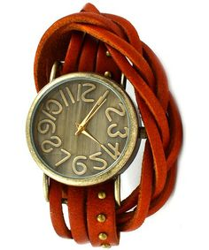 Emily Antique Style Wrap Around Leather Watch in Burnt Orange.ooh, it even has my name! Terracota, Trendy Accessories, Fashion Accessories, Fashion Jewelry, Burnt Orange Decor, Bordeaux, Arm Party, Orange Color, Bracelet Watch
