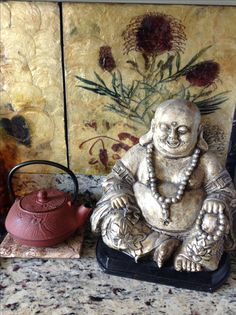 Happy Buddha in my kitchen...Washington, DC, StoneLoveArtJewelry Private Collection