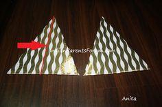 Kids craft - DIY tabletop cardboard christmas tree