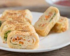 Omelette roulée carottes et petits pois à moins de 200 calories par personne : http://www.fourchette-et-bikini.fr/recettes/recettes-minceur/omelette-roulee-carottes-et-petits-pois-moins-de-200-calories-par-personne