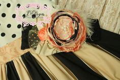 Hey, I found this really awesome Etsy listing at https://www.etsy.com/listing/198197151/peach-pink-black-ivory-gold-couture