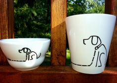 'Sit-Stay' Z Light and Mug Line Design, Design Art, Z Arts, Beautiful Lines, Design Inspiration, Hand Painted, Mugs, Cups, Tumbler