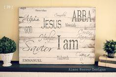 Idea of Christmas signs, names of the Savior who is born! Aimee Weaver Designs — Portfolio