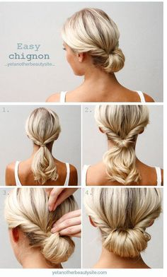 Easy And Elegant Chignon Beautyhack