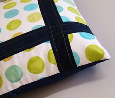 Framing dots pillow cover
