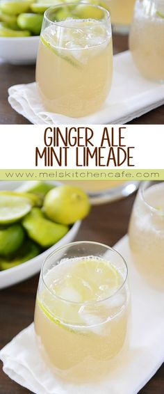 This Ginger Ale Mint Limeade is so simple and super refreshing!