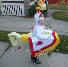 Awesome Yellow Submarine Costume for a 5-Year Old Girl... This website is the Pinterest of costumes