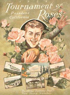 1921 Pasadena Rose Parade poster.  Fun fact: there was no parade theme this year!
