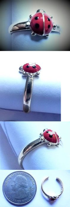 Rings 98477: 14Kt Pure Solid Gold Enamel Lady Bug Adjustable Toe Ring! BUY IT NOW ONLY: $69.3