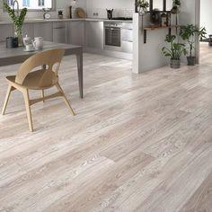 Kitchen with laminate wood flooring Vacuum For Hardwood Floors, Refinishing Hardwood Floors, Wooden Floor Tiles, Wooden Flooring, Grey Flooring, Home Deco, Floor Design, House Design, Basement Flooring Options