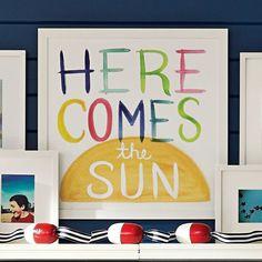 Here Comes The Sun Watercolor Art