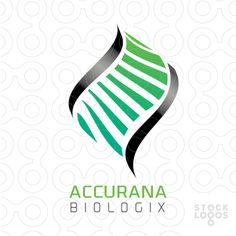 A DNA or double helix logo made with sleek, organic, flowing shapes. Life, organic, DNA mapping, genes, genetic or genetics, biology, biochemistry, science, scientific, modern, technology, cure, ancestry, fluidity...