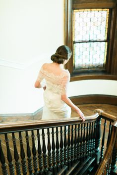 Bride on Staircase1   photography by http://www.rebeccaarthurs.com