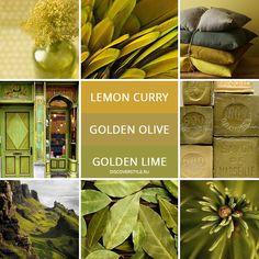 цвет осень зима 2017 2018 pantone хаки lemon curry, golden olive, golden lime colors - fall winter