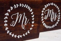 Monogram Mr & Mrs Wedding Signs Wooden Rustic Wedding Sign