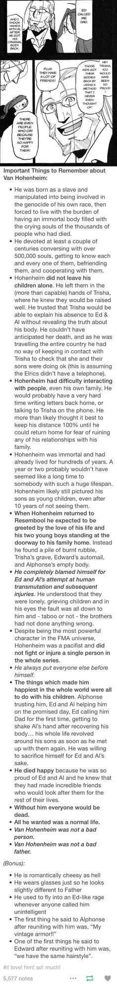Van Hohenheim facts << Here's the full post. <<< This is why he's one of my favorite characters
