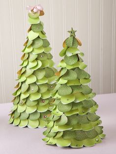 jeanettelynton.com: You Asked, I Answered: Making Your Own Christmas Trees - instead of using a punch -- use AP or Artiste cart to cut out circles for you - save TONS of time that way