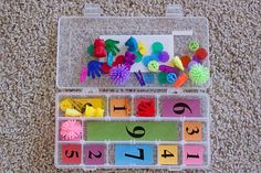 Awesome educational mini-activities for toddlers on up - a lot of this could even be modified for 1st, 2nd, 3rd graders, so all my teacher friends need to look. :)