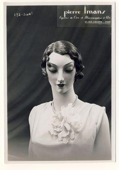 Artist Mannequin, Mannequin Heads, Vintage Mannequin, Daguerreotype, 1930s Fashion, Vintage Beauty, Mannequins, Dressmaking, One Shoulder Wedding Dress