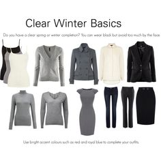 """Clear Winter Basics"" by katestevens on Polyvore"