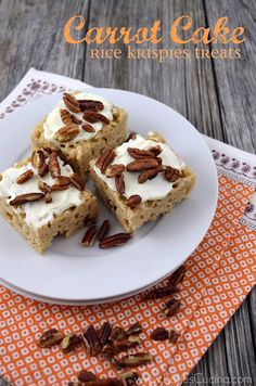 Carrot Cake Rice Krispies Treats by Katie Jasiewicz‏  { @KatiesCucina } from: http://KatiesCucina.com #ricecrispytreatday