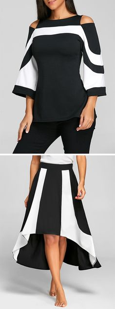 How to match clothes fashion tips,Skirt and Blouse for women. Buy styles for work, casual, yoga, and club leggings. Cheap prices for black, white, and printed Blouse and Skirts.#blouse#skirts