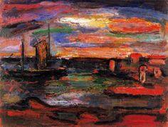Crepúsculo u Orilla del mar -1939. Óleo. 50,5 x 65 cm. The Phillips Collection. Washington. EEUU.