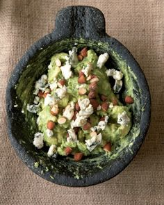 Blue Cheese Guacamole w/ smoked almonds