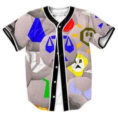 sweat shirt Runescape Runes Jersey Summer Style with buttons 3d Hip Hop Streetwear Men's shirts tops casual shirt