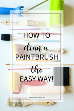 How to clean a paint