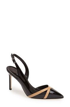 Manolo Blahnik Pointy Toe Slingback Pump (Women) available at #Nordstrom