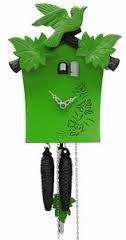 groene klok met vogel