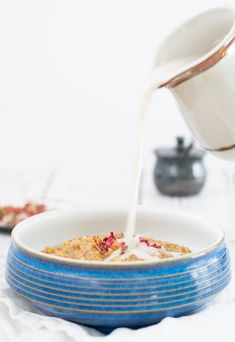Earl Grey Oatmeal with or without Rosewater from Your Slow Cooker or Instant Pot