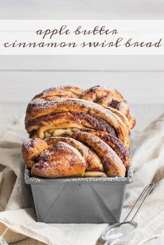 4 Points About Vintage And Standard Elizabethan Cooking Recipes! Apple Butter Cinnamon Swirl Bread-This Bread Was Easy To Make, So Moist, And Had Plenty Of Apple Butter And Cinnamon Sugar In Every Bite. My Family Loved It Food Breads Apple Apple Recipes, Fall Recipes, Bread Recipes, Sweet Recipes, Cooking Recipes, Cooking Rice, Weight Watcher Desserts, Cinnamon Swirl Bread, Cinnamon Butter