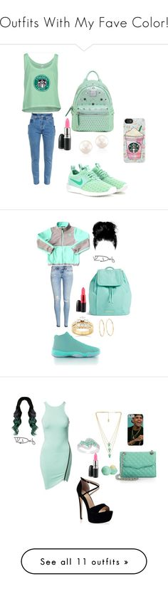 """Outfits With My Fave Color!"" by dloved123 on Polyvore featuring MCM, NIKE, Vetements, MAC Cosmetics, Samsung, The North Face, H&M, Vera Bradley, Kobelli and Juicy Couture"