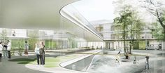 Winning team in competition on a new neuro-rehabilitation centre :: Henning Larsen Architects