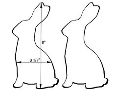 Bunny rabbit template.....now what if I cut bunnies from musical sheets....