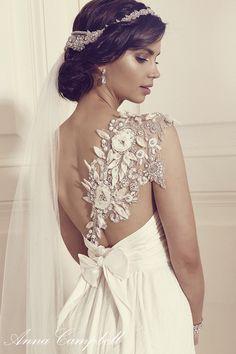 Anna Campbell Bridal Tash Dress | Vintage-inspired floral embellished wedding dress