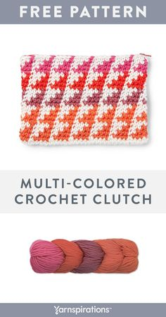 Yarnspirations is the spot to find countless free intermediate crochet patterns, including the Caron x Pantone Crochet Clutch. Browse our large free collection of patterns & get crafting today! Crochet Bags, Crochet Clothes, Knit Crochet, Crochet Clutch Pattern, Crochet Patterns, Wrist Warmers, Yarn Projects, Crochet Accessories, Pantone