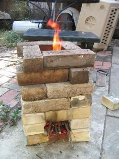 Idea: Learning How to Make a Wood Burning Rocket Mass Stove