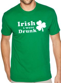 Buy 2 T-Shirts and get the 3rd FREE!  *Add 3 T-Shirts To Your Shopping Cart,  Apply the coupon code ( FreeTee ) at checkout!  (coupon value $12.95 USD when buying 3 items)    St Patricks Day Shirt Irish i were Drunk Mens T shirt Patricks Shirt Irish Shirt Ireland Tee Funny Cool Irish Tee Irish Humor    All our t-shirts are screen printed by hand and made to order on 100% Cotton Tees. All shirts are screen printed in a smoke free environment.    Only the best screen printing inks are used. I…