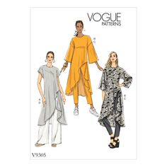 Purchase Vogue Patterns 9305 MISSES' TUNIC AND PANTS and read its pattern reviews. Find other Tops, Pants, sewing patterns.