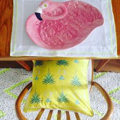 Already preparing for Saturday brunch! 🍾🌴 (ok, i dont really eat from the flamingo dish but wanted it in the picture) spy the yellow Jewels & Palms cushion! ;) #cushion#homedecor#homeaccessories#home#homeinspiration#livingroom#bedroom#diningroom#table#pillow#uniquedesign#heartandspark#interiorstyling#interiordesign#homestyling#wildfox#jonathanadler#katespade#bohochic
