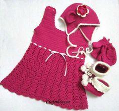 Crochet cute baby dress tutorial - Craft Ideas - Crafts for Kids - HobbyCraft | Craft Ideas - Crafts for Kids - HobbyCraft
