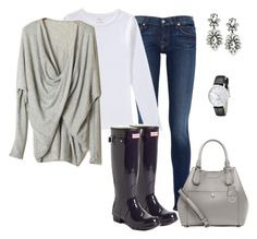 """""""12.30.15"""" by lccalifornia ❤ liked on Polyvore featuring 7 For All Mankind, Hunter, Michael Kors and Kate Spade"""