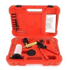 Amzdeal Hand Held Brake Bleeder Vacuum Pump Gauge Test Tuner Kit Tools DIY Hand Tools