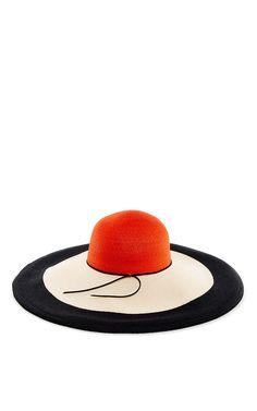 Eugenia Kim Colorblocked Sunny Hat - Swim Accessories Report Resort 2016